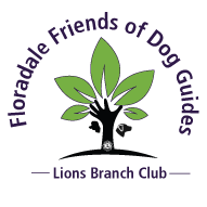 Floradale Friends of Dog Guides Lions Branch Club logo